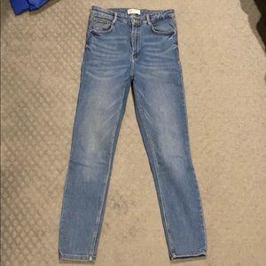 Zara ultra high rise skinny stretch jeans 8